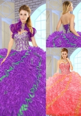 2015 Fall Beautiful Multi Color Quinceanera Dresses with Sweetheart