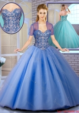 2016 Perfect Beading Ball Gown Sweet 16 Dresses with Lace Up