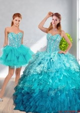 2016 Spring Pretty Sweetheart Detachable Quinceanera Dresses in Multi Color