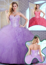 2016 Spring Wonderful Floor Length Quinceanera Gowns with Ruffles