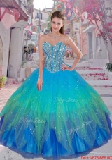 Discount 2015 Winter Beaded Ball Gown Quinceanera Dresses