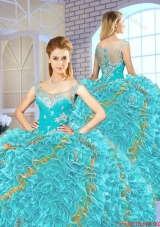 Exclusive Beading and Ruffles Quinceanera Gowns in Multi Color