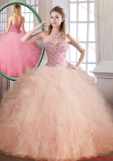 Fashionable Luxurious Floor Length Sweet 16 Dresses with Ball Gown