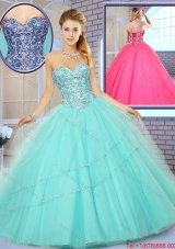 Fashionable New Style Floor Length Quinceanera Gowns with Beading