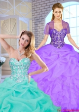 New Arrivals 2016 Spring Sweetheart Quinceanera Gowns with Beading