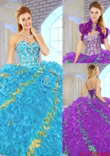 Popular 2016 Sweetheart Quinceanera Gowns in Multi Color