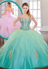 2015 Fall Beautiful Quinceanera Dresses with Beading and Appliques