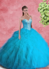 2016 Beautiful Ball Gown Sweetheart Beaded Sweet 16 Dresses