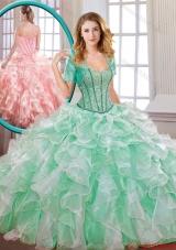 2016 Popular Beading and Ruffles Multi Color Quinceanera Dresses