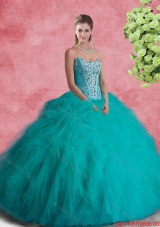 Perfect Strapless Sweet 16 Dresses with Beading and Ruffles