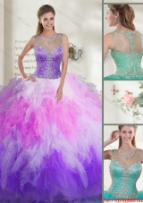 2016 Gorgeous Beaded Sweet 16 Dresses with Ruffles
