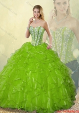 Gorgeous Sweetheart Detachable Quinceanera Dresses Beading and Ruffles