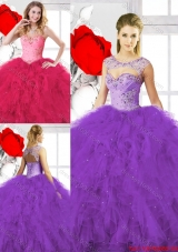 Classical Beading Ball Gown Sweet 16 Gowns with Sweetheart