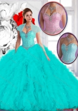 Perfect 2016 Spring Ball Gown Sweet 16 Dresses with Ruffles