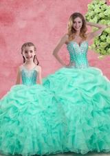 2016 Romantic Beading Princesita With Quinceanera Dresses in Apple Green