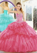 Cheap Ball Gown Quinceanera Dresses with Beading and Ruffled Layers for Spring