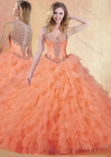 Perfect Ball Gown Straps Quinceanera Dresses with Ruffles and Appliques