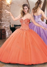Designer Big Puffy Tulle Beaded Bodice Sweet 16 Dress