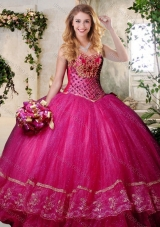 Designer Teal Sweet 16 Dress with Beading and Appliques