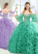 Exquisite Beaded Big Puffy Detachable Quinceanera Dresses with Brush Train