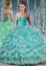 Lovely Big Puffy Quinceanera Dress with Beading and Ruffles