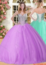 Discount Puffy Skirt Tulle Quinceanera Gown with Beading for 201