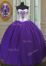 Fabulous Eggplant Purple 15th Birthday Dress Military Ball and Sweet 16 and Quinceanera and For with Beading Sweetheart Sleeveless Lace Up