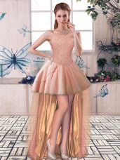 Peach Tulle Lace Up Off The Shoulder Sleeveless High Low Celebrity Dress Beading,Silhouette: A-lineNeckline: off the shoulderSleeve Length: sleevelessHemline/Train: high lowBack Detail: lace upEmbellishment: beadingFabric: tulleShown Color: peach(Color & Style representation may vary by monitor.)Occasion: prom,partySeason: spring,summer,fallFully Lined: YesBuilt-In Bra: Yes
