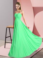 Clearance Green Sleeveless Floor Length Ruching Lace Up Dress for Prom,Silhouette: EmpireNeckline: sweetheartSleeve Length: sleevelessHemline/Train: floor lengthBack Detail: lace upEmbellishment: ruchingFabric: chiffonShown Color: green(Color & Style representation may vary by monitor.)Occasion: prom,partySeason: spring,summer,fall,winterFully Lined: YesBuilt-In Bra: Yes