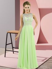 Custom Made Beading Prom Dress Zipper Sleeveless Floor Length,Silhouette: EmpireNeckline: high-neckSleeve Length: sleevelessHemline/Train: floor lengthBack Detail: zipperEmbellishment: beadingFabric: chiffonShown Color: spring green(Color & Style representation may vary by monitor.)Occasion: prom,partySeason: spring,summer,fall,winterFully Lined: YesBuilt-In Bra: Yes