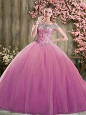 Attractive Tulle Sleeveless Floor Length Quinceanera Gowns and Beading