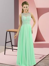 Cute Apple Green Sleeveless Chiffon Zipper Prom Dress for Prom and Party,Silhouette: EmpireNeckline: high-neckSleeve Length: sleevelessHemline/Train: floor lengthBack Detail: zipperEmbellishment: beadingFabric: chiffonShown Color: apple green(Color & Style representation may vary by monitor.)Occasion: prom,partySeason: spring,summer,fall,winterFully Lined: YesBuilt-In Bra: Yes