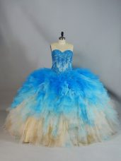 Latest Lace Up 15th Birthday Dress Multi-color for Sweet 16 and Quinceanera with Appliques and Ruffles