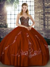 Exceptional Beading and Embroidery Quince Ball Gowns Brown Lace Up Sleeveless Floor Length,Silhouette: Ball GownsNeckline: sweetheartSleeve Length: sleevelessHemline/Train: floor lengthBack Detail: lace upEmbellishment: beading,embroideryFabric: tulleShown Color: brown(Color & Style representation may vary by monitor.)Occasion: military ball,sweet 16,quinceaneraSeason: spring,summer,fall,winterFully Lined: YesBuilt-In Bra: Yes