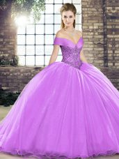 Modest Organza Off The Shoulder Sleeveless Brush Train Lace Up Beading Sweet 16 Quinceanera Dress in Lavender,Silhouette: Ball GownsNeckline: off the shoulderSleeve Length: sleevelessBack Detail: lace upEmbellishment: beadingFabric: organzaShown Color: lavender(Color & Style representation may vary by monitor.)Occasion: military ball,sweet 16,quinceaneraSeason: spring,summer,fall,winterFully Lined: YesBuilt-In Bra: Yes