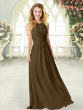 Fantastic Scoop Sleeveless Zipper Prom Dress Brown Chiffon,Silhouette: EmpireNeckline: scoopSleeve Length: sleevelessHemline/Train: floor lengthBack Detail: zipperEmbellishment: ruchingFabric: chiffonShown Color: brown(Color & Style representation may vary by monitor.)Occasion: prom,partySeason: spring,summer,fall,winterFully Lined: YesBuilt-In Bra: Yes
