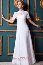 Strapless Lace Bridal Wedding Dress Floor Length