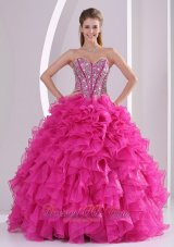 Sweetheart Rhinestone Decorate Uo Bodice Quinceanera Dress