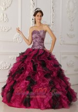 Princesita Quinceanera Dress Multi-color Sweetheart Ruffle