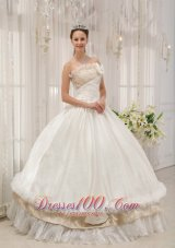 Ball Gown Strapless Floor-length Taffeta Dress for Quince