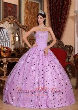 Lavender Sequince Sweetheart Quinceanera Dress