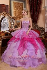 Multi-color Quinceanera Dress Ruffles Ball Gown Sweetheart
