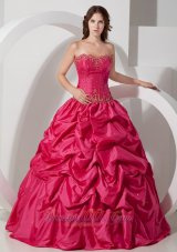 Pick-ups Hot Pink Sweet 16 Dress 2013 Beading
