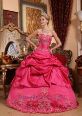 Hot Pink Quinceanera Dress Sweetheart Taffeta