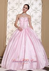 Baby Pink 2013 Quinceanera Dress With Beading Decorate