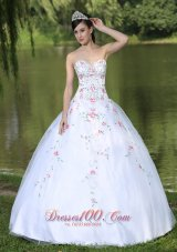 White Quinceanera Dress for Sweet 16 With Appliques