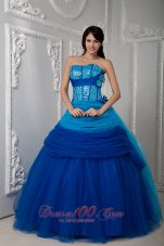 Under 200 Quinceanea Dress Ruch Hand Flowers Sequins