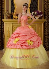 Watermelon and Yellow Sweet 16 Dress Pick-ups