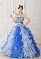 Quinceanera Dress Princess Sweetheart Beading Ruffles