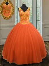 Dramatic Sleeveless Beading Zipper 15th Birthday Dress